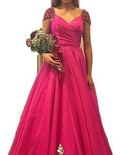 CCBubble Prom Dresses 2018 V Back Cap Sleeves Prom Dress