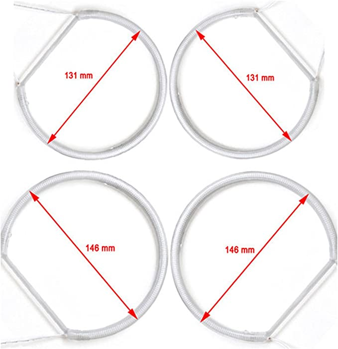 Kit Angel Eyes CCFL 4 x 146 mm CANBUS E46 FACELIFT LCI OHNE Projektor wei/ß 6000K Angel Eyes Halo Ringe