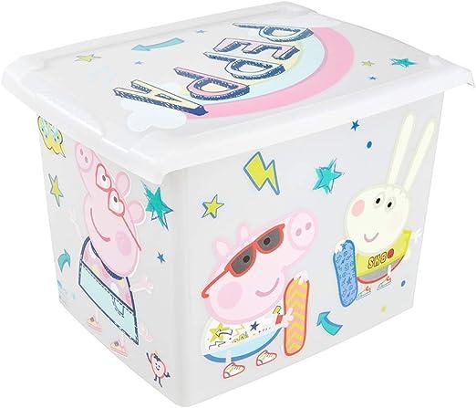 keeeper Caja de Almacenaje con Tapa Peppa Pig, 39 x 29 x 27 cm, 20,5 l, Filip, Gris claro transparente: Amazon.es: Hogar