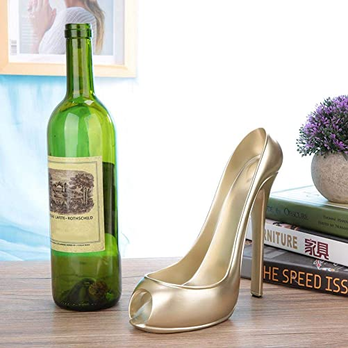 AUNMAS Stylish Wine Rack High Heel Shoe Wine Bottle Holder Countertop Storage Stand
