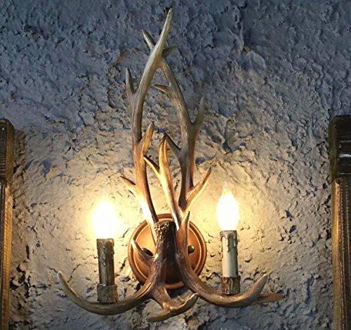 SHF Faux antler Resin Antler Wall Sconce 2 Light