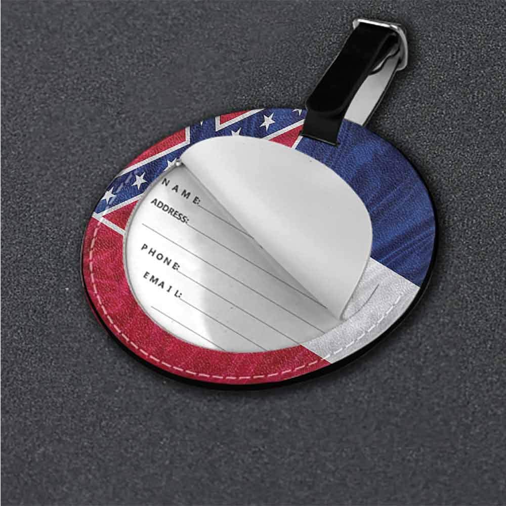 Cute Luggage Tag American,Mississippi Flag Square Good-looking