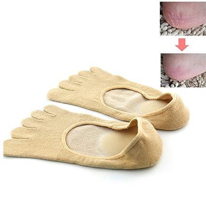 Pinkiou Toe Socks SPA Gel Aceite esencial para las plantas Anti-Cracking Low Cut No