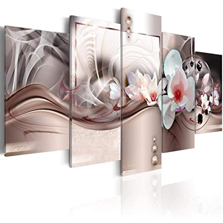 Canvas Art Design Orchid Flower Canvas Wall Art Print for Home Office Decoration Abstract White Floral Painting Picture Photo Stretched Framed Ready to Hang