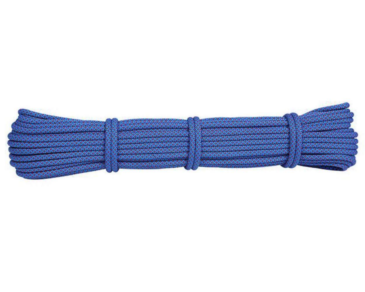 Bleu ZAIYI-Climbing rope Alpinisme Auxiliaire Camping en Plein Air Articles Groupés Randonnée Famille Corde De Rechange Résistant à l'usure 6mm,jaune-50m6mm 30m6mm