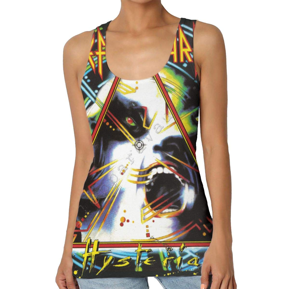 Def Leppard Womens Tank Tops Halter Racerback Casual T Shirts