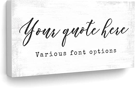 Amazon Com Customized Quotes On Canvas Wall Art Personalized Motivational Inspirational Family Or Company Sayings Welcome Home Signs With Established Date Gps Coordinates Business Name Or Love Song Lyrics Posters Prints