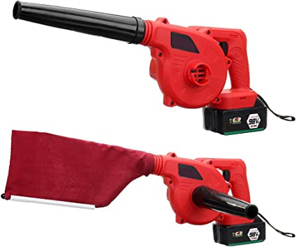 De mano inalámbrico soplador de hojas, sin cable del ventilador 220V polvo Barredora Aspiradora 268TV Li-Ion: Amazon.es: Bricolaje y herramientas