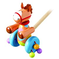 Orange Tree Toys - Poni di legno, da spingere