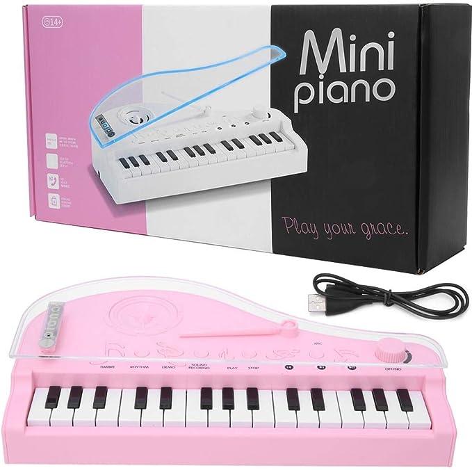 Tnfeeon Mini Teclado de Piano eléctrico de 31 Teclas para ...