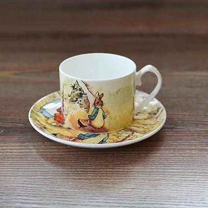 a056ab9b62c Amazon.com | Export Britain Bone China Coffee Cup Saucer Sets ...