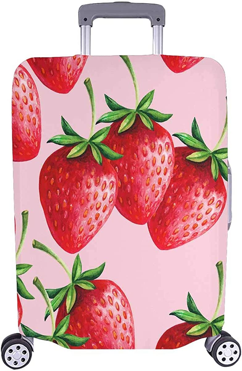 INTERESTPRINT Travel Luggage Protector Suitcase Covers Fit 18-28 Inch Luggage Strawberries