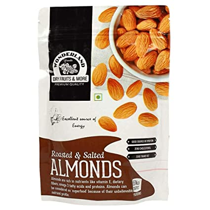Foods Grocery California Roasted Amazon 100g in Wonderland Salted amp; Gourmet Almonds