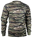 Rothco Long Sleeve T-Shirt/Tiger Stripe, Large