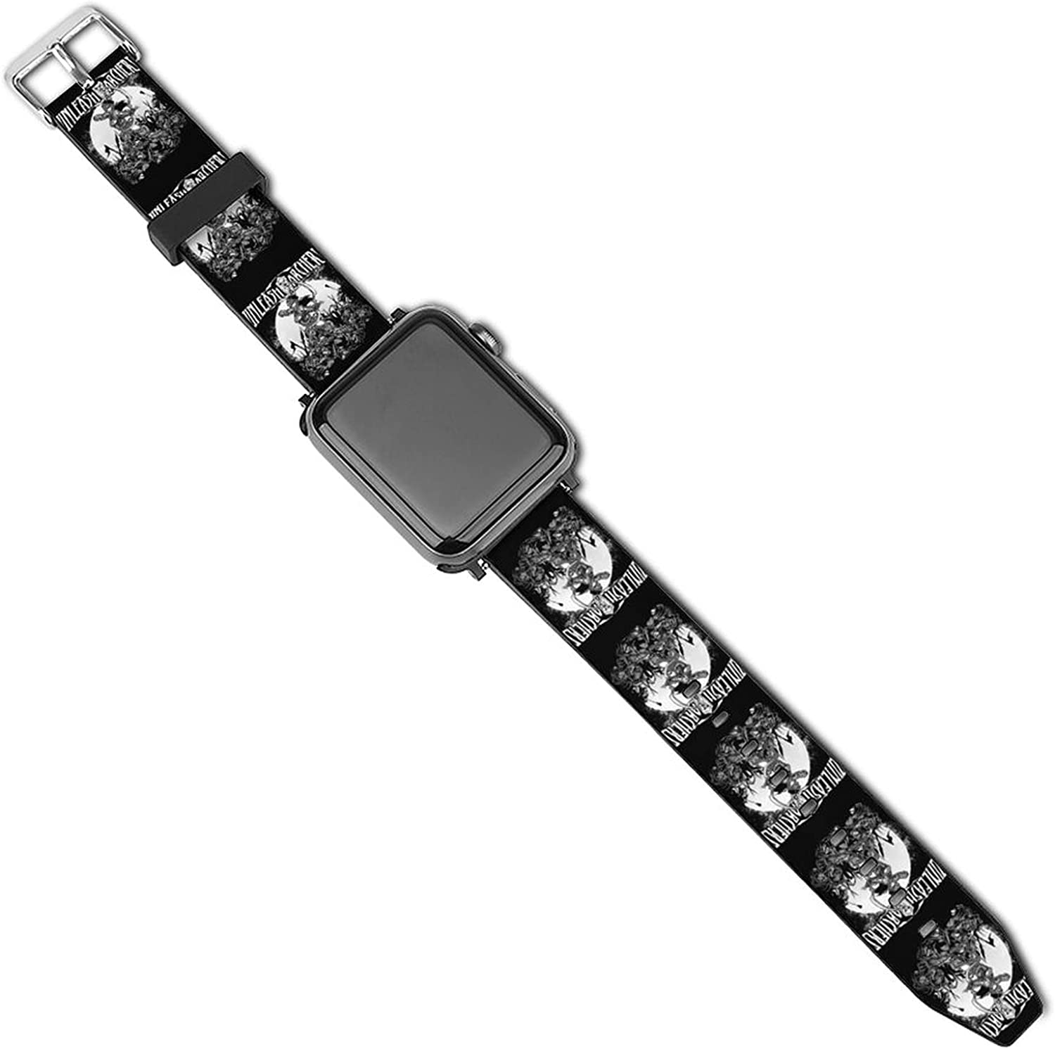 Un-leash The-Archers Patterned Leather Wristband Strap for Apple Watch Series 5/4/3/2/1