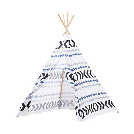 MallBest Kids Play Tents Indian Teepee Tent Children Playhouse Canvas Portable for Indoor and Outdoor