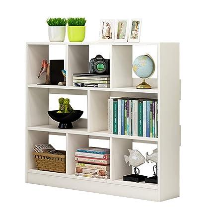 Amazon.com: Bookshelf Simple Solid Wood Multi-Layer Living ...
