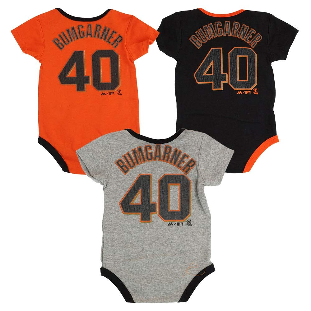100%品質 マディソンBumgarner Piece San Francisco Francisco Giants名前と番号ベビー/幼児3 Piece Creeper Set 24 Set Months B01K62B4B0, カンマキチョウ:e468262d --- a0267596.xsph.ru
