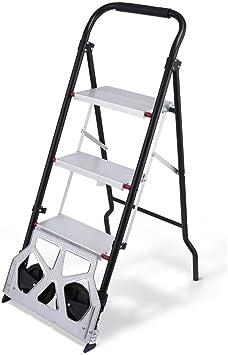 Escalera y carretilla creine 2 en 1 – Escalera aluminio escalera escalera 3 peldaños carretilla de transporte carretilla de mano plegable caja Tranvía: Amazon.es: Bricolaje y herramientas