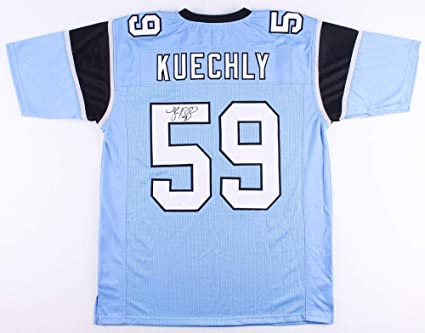 Luke Kuechly Autographed Blue Carolina Panthers Jersey - Hand Signed By Luke  Kuechly and Certified Authentic a3ca8acb7