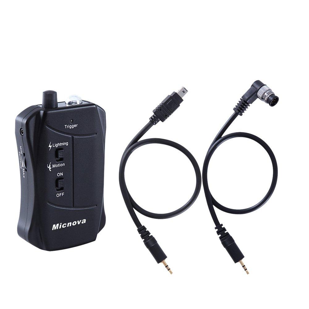 Micnova LC03N Sensor de disparo de Movimiento y Rayo para Nikon D3s D3X D4 D750 D800 D810 D610 D600 D7000 D7100 D5200 D3300 D5300 D300S D90 cámara: ...