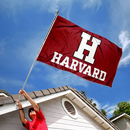 Amazon.com : College Flags and Banners Co. Harvard Crimson Athletic Logo Flag : Sports & Outdoors