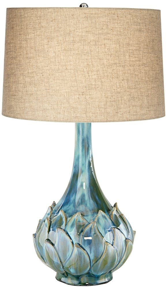 Possini Euro Kenya Blue Green Ceramic Table Lamp by Possini Euro Design