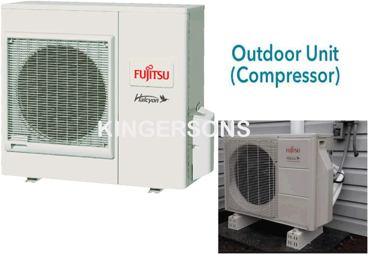 Fujitsu 19.7 SEER Energy EFFICIENT Ductless Slim Compact Concealed Duct Air Conditioning System 1.5 Ton 18000 BTU Cooling Heating
