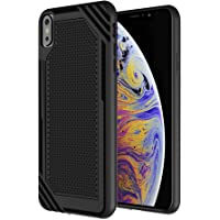 iPhone Xs Max Case, CHOETECH 6.5'' Slim Flexible TPU Back Cover with Drop Protection and Fingerprint-Free Compatible with iPhone Xs Max -Black