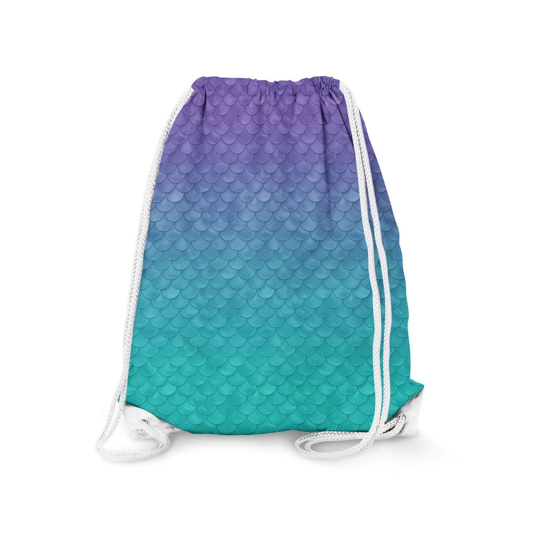 11.7 x 14.6 Small Ariel Mermaid Disney Inspired Drawstring Bag