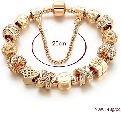 Gold Plated Charm Bracelets for Women