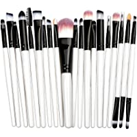 STELLAIRE CHERN Essential Makeup Brush Set 20 PCS Professional Make up Brush Set Synthetic Foundation Blending Concealer Powder Cream Cosmetics Makeup Brushes Kit - Black white