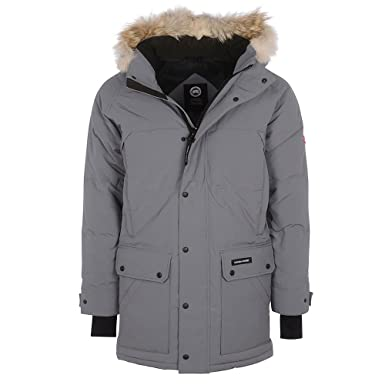 e1f27a91722 Canada Goose Men's Emory Slim Fit Parka Jacket In Grey: Amazon.co.uk ...