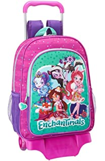 Safta Mochila Enchantimals Escolar Grande Con Carro Safta 320x160x440mm