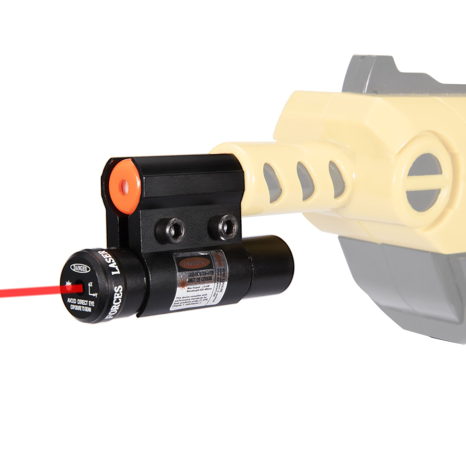 Deyard Laser Sight for Bug A Salt 2.0 Fly Gun Lawn & Garden Eradication Beam Spot Aiming Sight in Red Color(Battery Included)