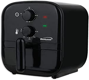 Brentwood 1-Quart Small Electric Air Fryer with 60-Minute Timer & Temp. Control (Black)