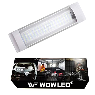 "WOWLED 11"" RV Car Interior Led Light Bar, 10W 72 LEDs Lamp Strip White Light Tube with On/Off Switch for Van Camper Lorry Truck Trailer Boat Motorhome ( Map Light, Dome Light, Trunk, Cargo Area Light): Automotive"