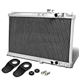 For Acura Integra DB DC Manual Transmission 2-Row Dual Core Aluminum Radiator w/Stay Mount Brackets (Black)