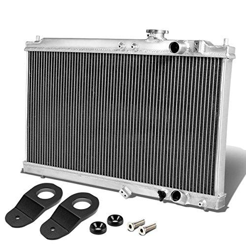 For Acura Integra DB DC Manual Transmission 2-Row Dual Core Aluminum Radiator w/Stay Mount Brackets (Black)