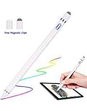 Stylus Pen for Apple iPad - Capacitive Rechargeable Styli with 1.5mm Ultra Fine Tips Active Pencil for Apple iPad Pro Air Mini/iPhone/Samsung/Lenovo Tablet with Replaceable Cap[Work with IOS Android]