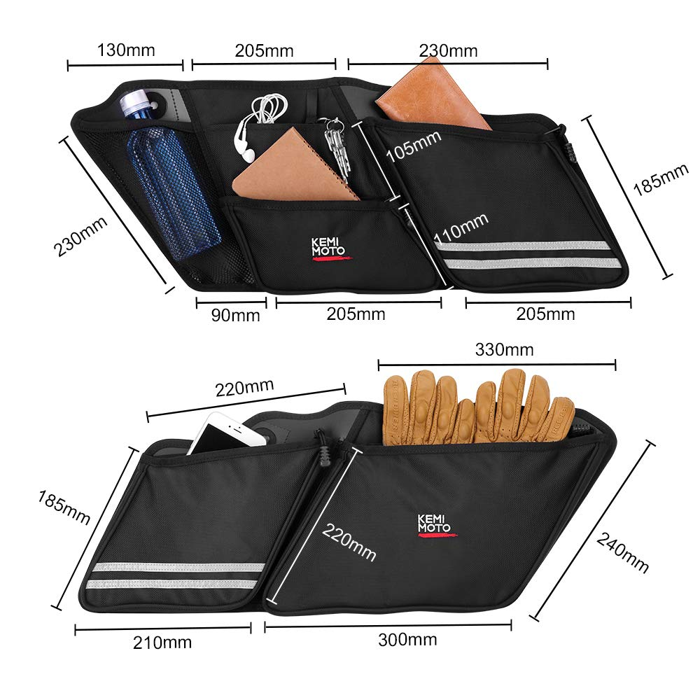 Saddlebag Organizer for Street Glide Road King Road Glide Electra Glide Touring 2014-2019 Saddle Bag Organizers