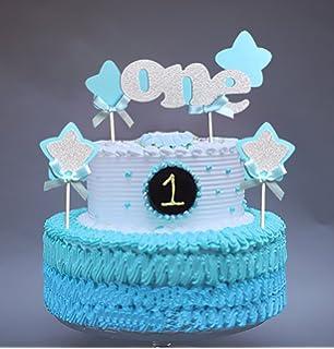 Amazoncom LOKIPA Happy Birthday Decoration Blue Paper Pom Poms