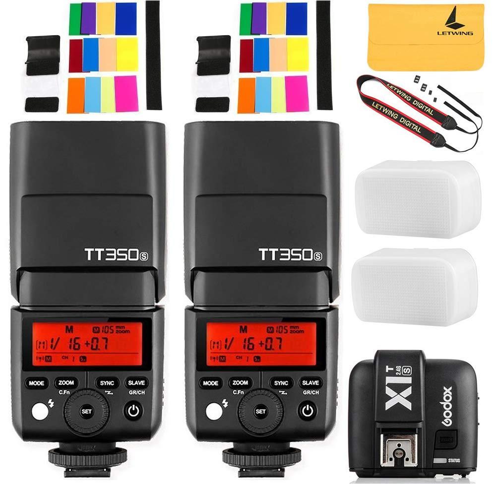 Godox TT350S 2X Mini Flash TTL HSS 1 / 8000s 2.4G Wireless with X1T-S Flash Trigger Transmitter Compatible Sony Mirrorless Camera Cameras a7R a58 a99 ILCE6000L a77II RX10 by Godox