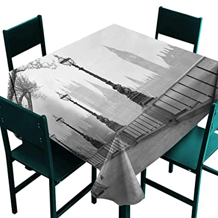 Amazon com: London Stain-Resistant tableclothBig Ben from