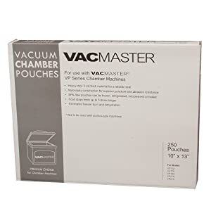 VacMaster 40725 3-Mil Vacuum Chamber Pouches, 10-Inch by 13-Inch, 250 per Box