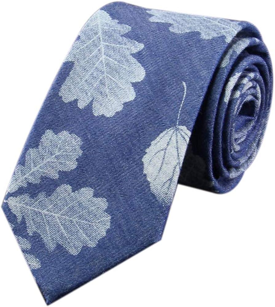 JUNGEN Corbata de Hombre con Estampado de Flores de Tinta Corbata ...