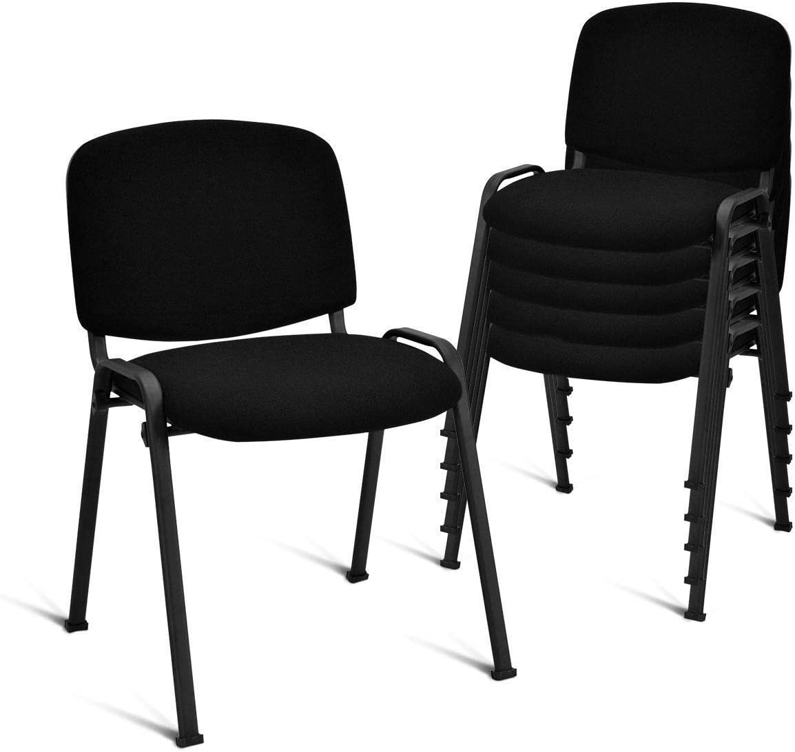 Casart 5 PCS Conference Chair Elegant Design Office Waiting Room Guest Reception Dining Chairs Furniture Set