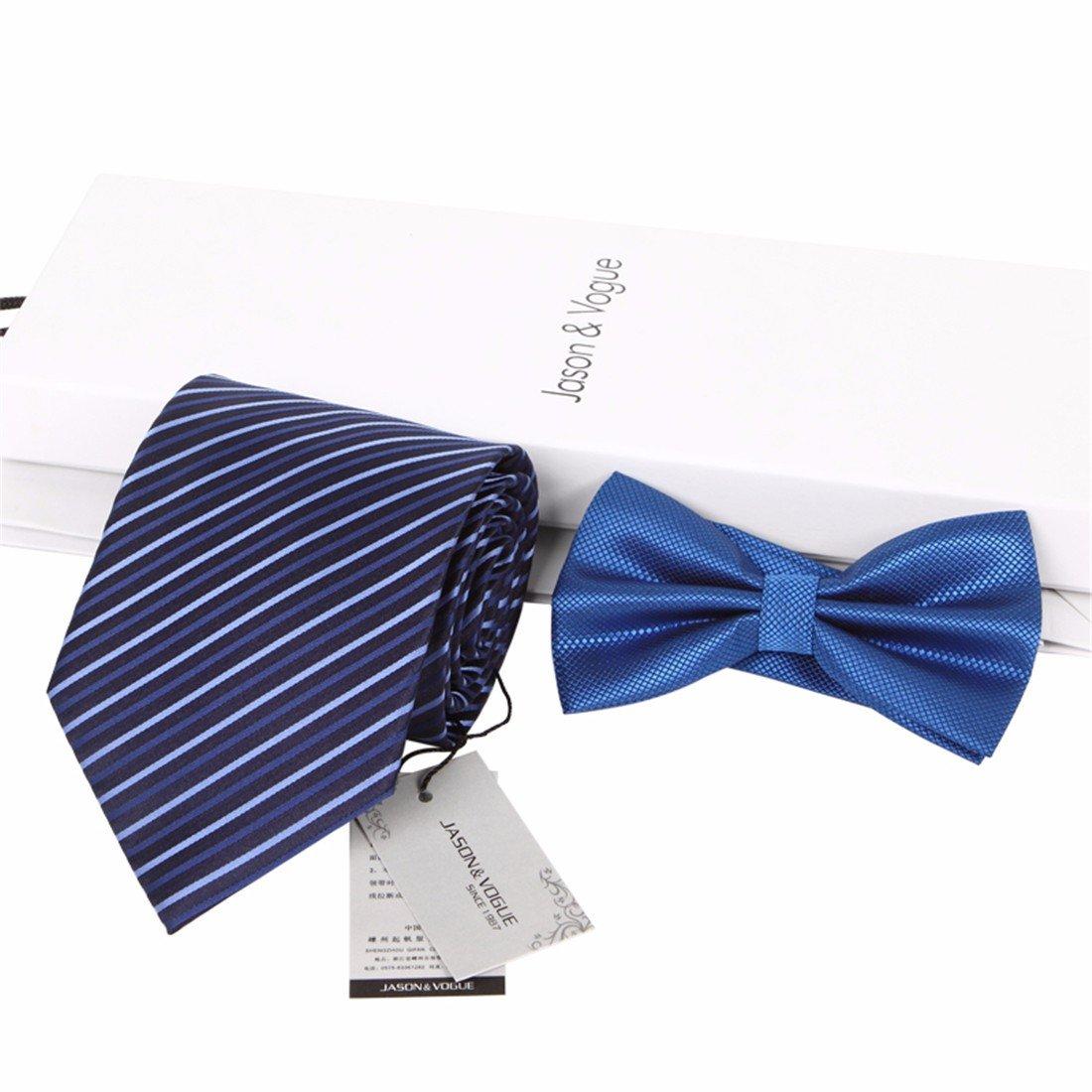 HXCMAN 9cm azul oscuro rayas corbata Conjuntos hombre corbata ...