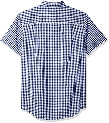 IZOD Men's Big and Tall Advantage Performance Poplin Short Sleeve Shirt, Deep Twilight Blue, 2X-Large Tall by IZOD (Image #2)