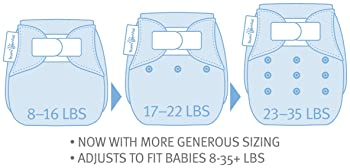 Image: bumGenius 5.0 One-Size Cloth Diaper | Adjusts from newborn to potty training